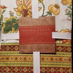 Fall tablecloth, handmade India ,60 by 102